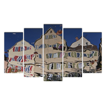 Canvas painting HD printing Modular Pictures 5 Pieces Abstract distortion house Living Room Wall Art Home Decor Frame Cairnsi