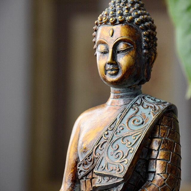 Buddha statues Thailand Buddha statue sculpture home decor office desk ornament vintage gift figurine Hindu siting Buddha 4