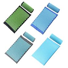 Acupressure Massager Mat Relaxation Relief Stress Tension Body Yoga Mat Relieve Body Stress Pain Spike Cushion Mat with Pillow