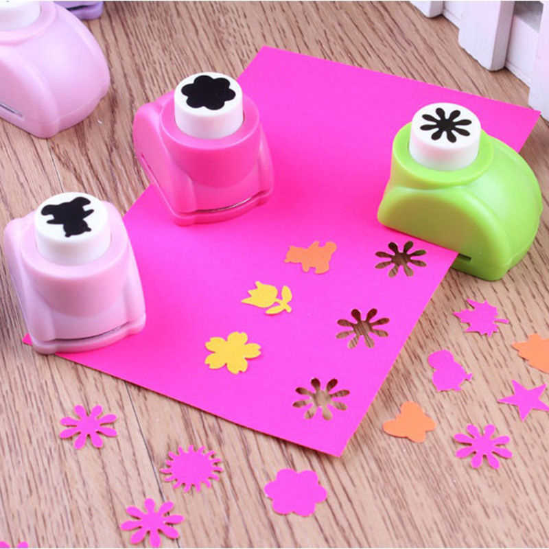 DIY Sticker Funny Seal Mini Printing Paper Flower Cutter Art Craft Punch Puncher Paper Cutter Scrapbooking Punches Toy For Child