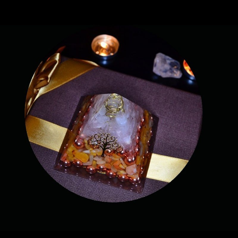 Orgonite Energy Pyramid Resin Decorative Craft Jewelry Home Rune Decoration Stone That Changes The Magnetic Field Of Life Wicca