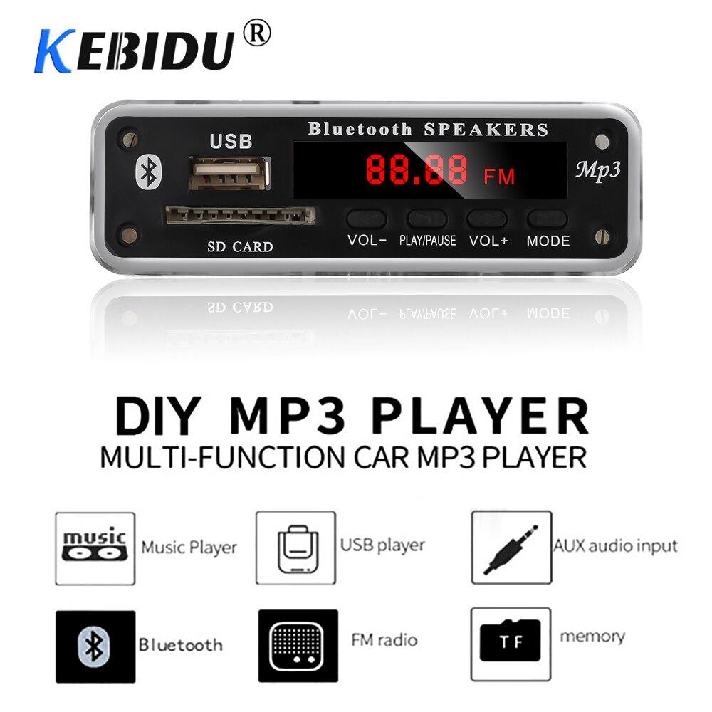 Беспроводной Bluetooth MP3-плеер Kebidu, декодер, плата, модуль с поддержкой USB TF радио FM AUX 5 в 12 В WMA MP3, аудио для автомобиля, телефона
