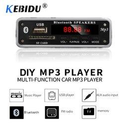 Kebidu sem fio bluetooth mp3 player decodificador placa módulo suporte usb tf rádio fm aux 5 v 12 v wma mp3 áudio para o carro para o telefone