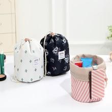 Draw String Flamingo Bag Cosmetics Toiletry Wash Storage Organizer
