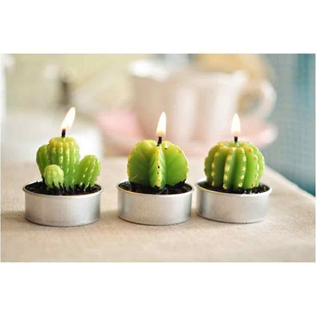 Cactus Party minutes Party Christmas Candle Wedding 40 Simulation Casual 30 Art Light Candles Plant Home Decorative