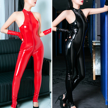 Fashion jumpsuits Women Slim Halterneck Zipper Ladies Romper Skinny High Elastic Jumpsuit