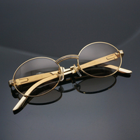 Wholesale Gold Sunglasses Men Carter Glasses Frame for Women Vintage Golden Eyewear for Dating Party Club Decoration Accessories