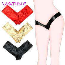 VATINE Gilded Sexy Lingerie Sex Toys for Women Low Waist Hip T Pants Thongs Sexy Underwear Adult Products(China)