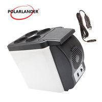 48W Travel Home ABS Double Use Warmer Portable Car Boat Refrigerator Mini Fridge 12V Multi Function Cooler Auto Freezer