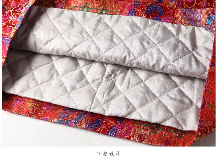 SHENG COCO Cheongsam Blouse nouvel an vêtements Chinois rouge Shanghai Tang Chinois manteau à manches longues Cheongsam Blouse cheveux de lapin - 5