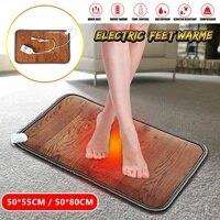 Feet Warmer Electric Heating Mat Office Heating Pad Warm Feet Thermostat Home Floor Carpet Heating Mat Foot Feet Warmer
