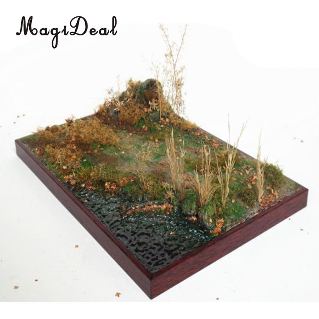 1:35 échelle en bois Base de sable prairie construire et peint pour Diorama paysage accessoires maquettes Kits bâtiment accessoire Architecture mise en page