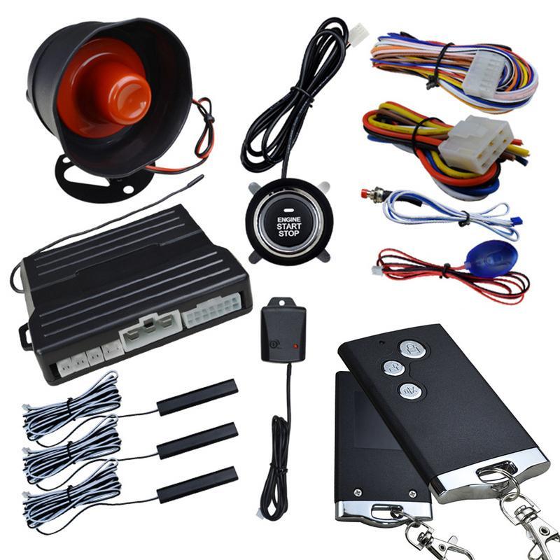 Système d'entrée sans clé de voiture démarrage par un bouton alarme antivol à Vibration universelle démarrage par télécommande à Induction PKE