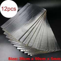 12 шт. 30x50 см 5 мм клейкие автомобильные звукоизоляционные пены хлопок домашние мертвые изоляционные колодки звукопоглощающие хлопок анти шу...