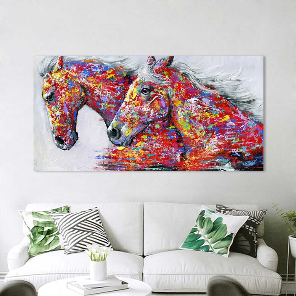 Horse canvas art 4