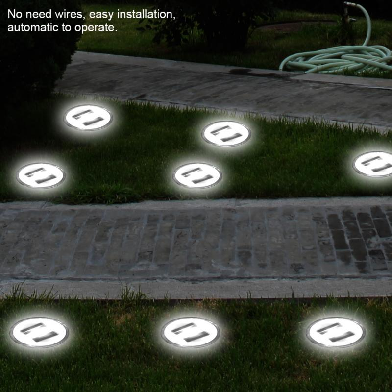 Waterproof Solar Garden Light Outdoor LED Light Buried Lamp Solar Garden Lamp for Outdoor Yard Lawn Landscape decoracion jardin in LED Lawn Lamps from Lights Lighting