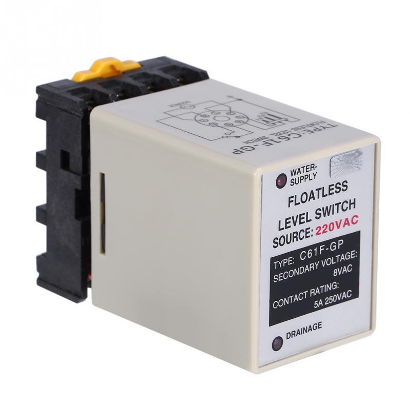 Precise Liquid Level Controller C61F-GP AC220V 5060HZ Liquid Floatless Level Switch Controller With Base new