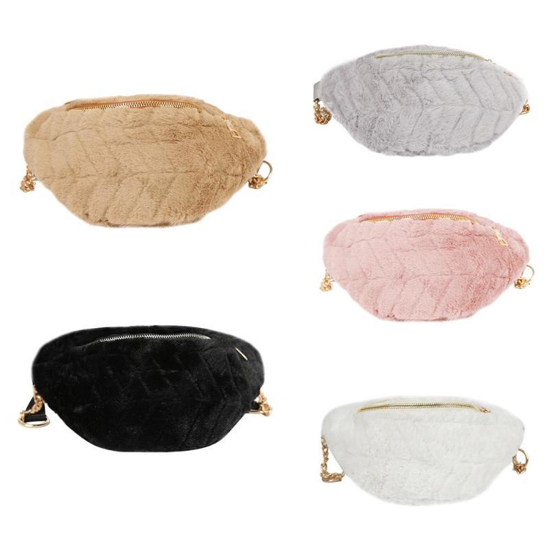 ade14a29b7b8 2019 Women Winter Faux Fur Chest Waist Bag Girls Cute Fashion Pink Black  Shoulder Crossbody Bags Bolsa Feminina for Phone -in Top-Handle Bags from  Luggage ...