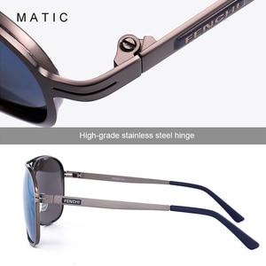 Image 4 - MATIC High Polarized Lenses Vintage Aviation Sunglasses For Mens Drivers Square Gold Metal Frame Sun Glasses Male uv400 Eyewear