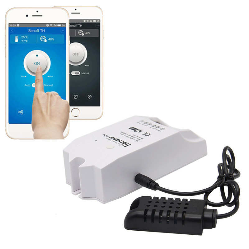 SONOFF Smart-Switch Sensor Support Remote-Control Humidity-Monitoring-App Temperature