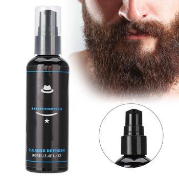 100ML Natural Cocoanut Oil Men Beard Shampoo Deep Cleansing Moisturizing Shampoo Beard Care 1