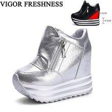 VIGOR/Женская обувь; весенние туфли-лодочки на платформе; обувь на высоком скрытом каблуке; женские туфли-лодочки; белые кроссовки; теннисная обувь; сезон осень; WY317