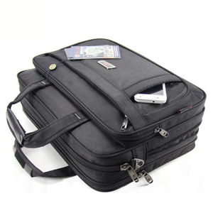 Image 4 - Volasss 2020 Klassische Aktentaschen Für Männer Handtaschen Hohe Qualität Wasserdichte Nylon Tuch Frauen Business Reise 15,6 Zoll Laptop Taschen