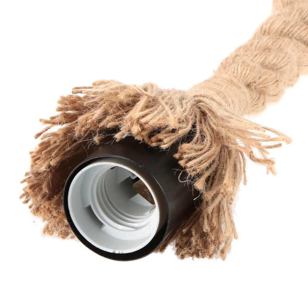 E27 одна осветительная головка, винтажная пеньковая веревка подвесной потолочный светильник Настенный светильник Промышленный Ретро столовой ресторана бара страна Стиль