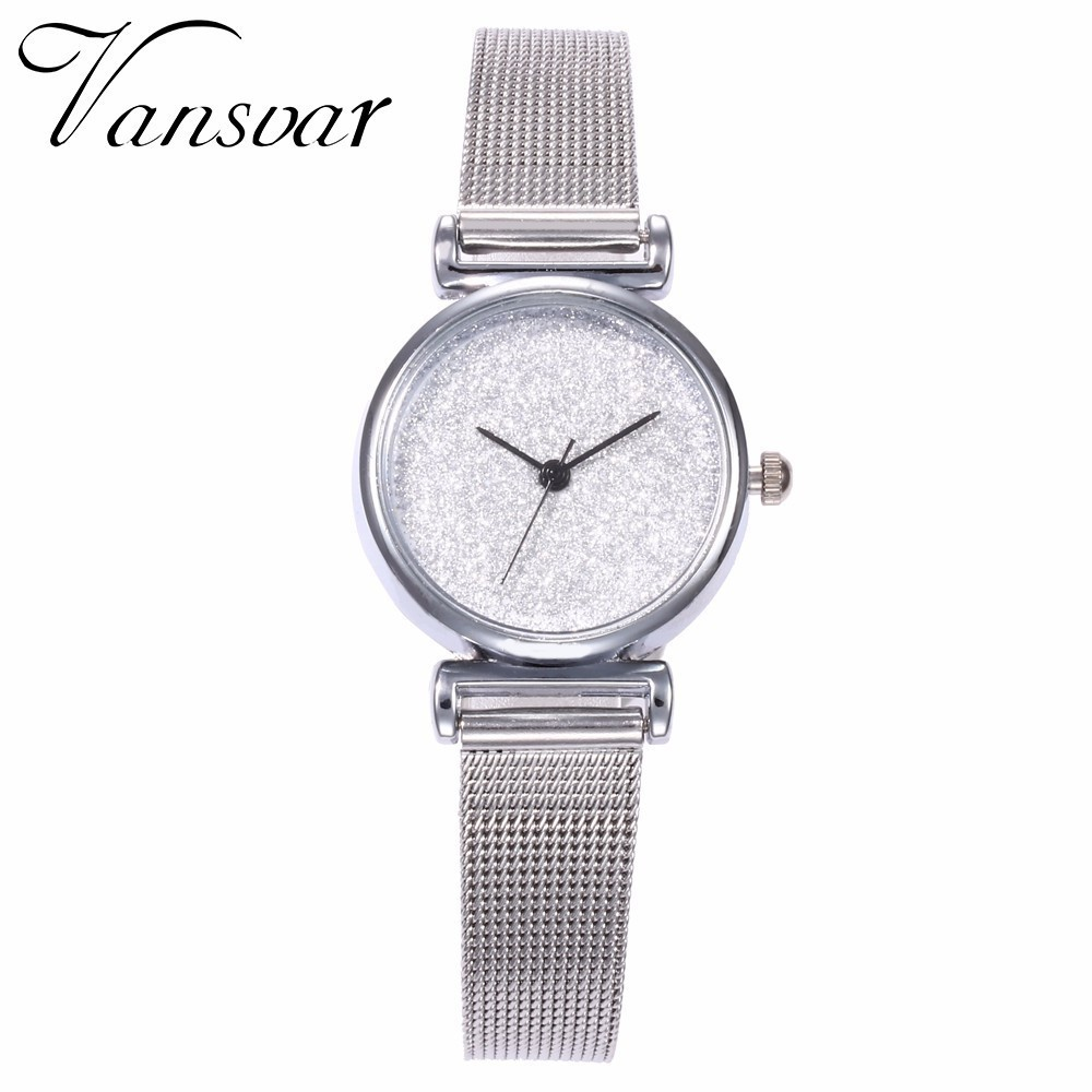 Fashion Women Silver Small Starry Sky Watch Casual Luxury Female Slim Wristwatches  Ladies Quartz Watch Relogio Feminino Fashion Women Silver Small Starry Sky Watch Casual Luxury Female Slim Wristwatches  Ladies Quartz Watch Relogio Feminino
