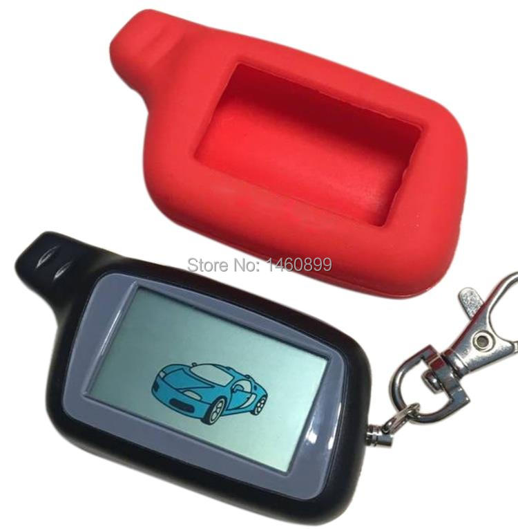 X5 LCD Remote Control Key Fob For Russian Version Vehicle Security Two Way Car Alarm System TOMAHAWK X5 Keychain + Silicone Case