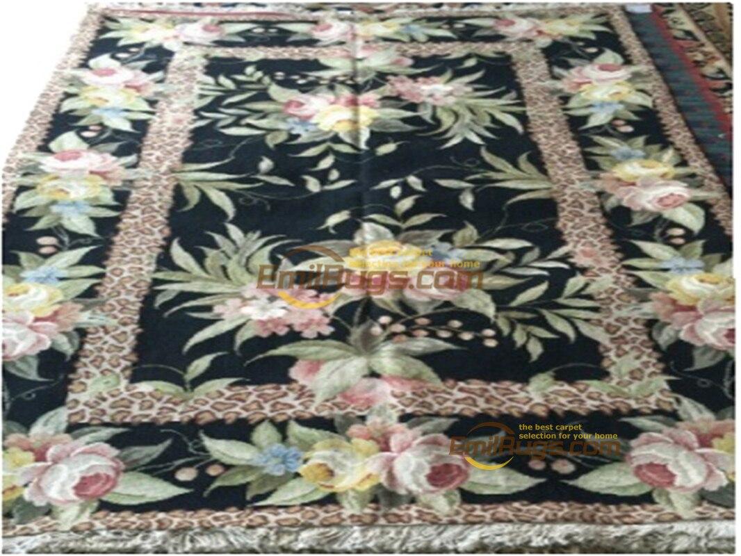 Tapis à aiguille de chine à la main canapé étage utilisation Vintage modernisme laine à tricoter tapis