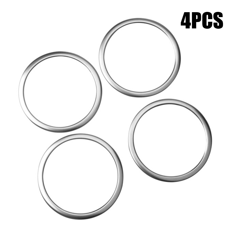 4pcs/Set Stainless Car Front Rear Door Speaker Cover Ring Trim For BMW X1 F48 2016-2018 Auto Interior Door Speaker Cover Ring