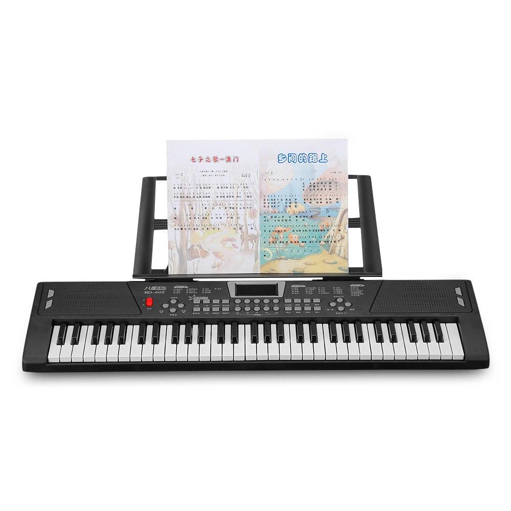 BD musique BD-602 multifonctionnel électronique Piano 16 tons 10-rythme jouet Musical 61 touches