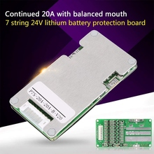 7S 24V 20A Lithium Li Ion Lifepo4 18650 Battery Bms Pcb Pcm Protection Board With Balance