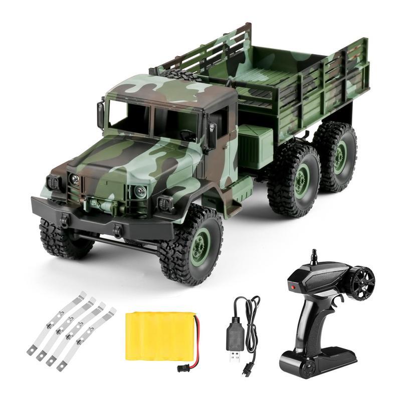 Caliente WPL nuevo 1:16 WPL tracción de seis ruedas escalada fuera de carretera camuflaje coche de juguete de Control remoto Auto ejército camiones para los niños-in Coches RC from Juguetes y pasatiempos    1