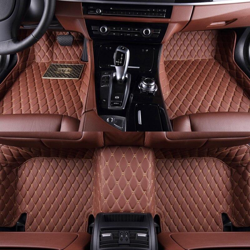 Tapis de sol de voiture 3d 5d pour TOYOTA FJ Cruiser GSJ1 Fortuner Highlander U4 Hilux VIII pick-up N1 Innova II N14 Previa tapis de voiture