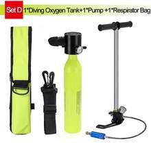 SMACO 0.5L мини баллон с кислородом для подводного плавания оборудование для подводного плавания Подводное дыхание с насосом респиратор сумка