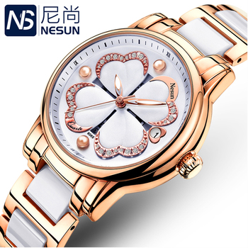 Switzerland Nesun Women's Watches Luxury Brand Quartz Watch Women Pearl Relogio Feminino Clock Diamond Wristwatches N9069-3