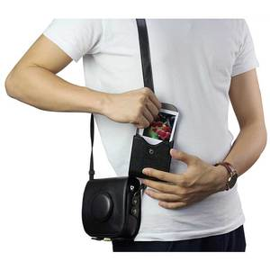 Image 2 - Fujifilm Instax Mini 8 9 Case Retro Leather Button Pouch Photo Case SQ10 SQ6 SQ20 x10 Fujifilm Mini 25 For Storage Camera Bag