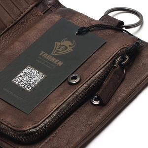 Image 5 - TAUREN 새로운 짧은 지갑 여성용 동전 지갑 남성용 동전 지갑 정품 가죽 레이디 지퍼 디자인 동전 지갑 포켓 짧은 Walet