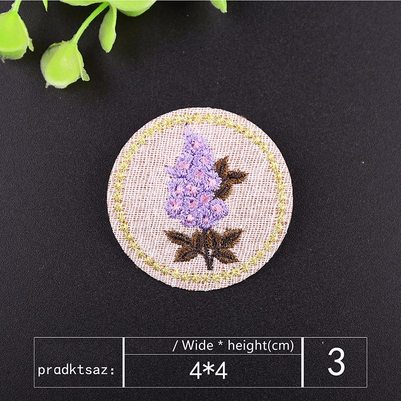 PGY Chinese Wind Flowers badge Patches for Clothes Iron orchid Cartoon Chrysanthemum Badges Diy Kid Coat Parches Free Delivery in Patches from Home Garden