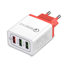 TOENMAN QC3.0 USB Adapter Portable Quick Charger Fast PD Wal