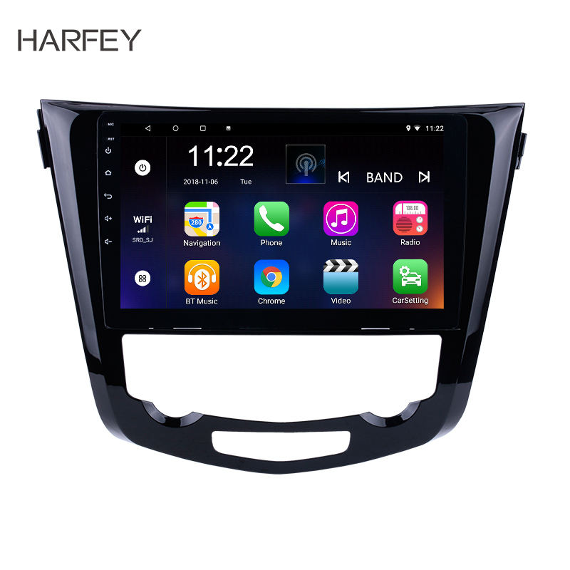 "Harfey 10.1"" Android 8.1/7.1 2Din Car Radio For 2014 Nissan QashQai X-Trail GPS Navigation Audio Multimedia Player Head Unit"