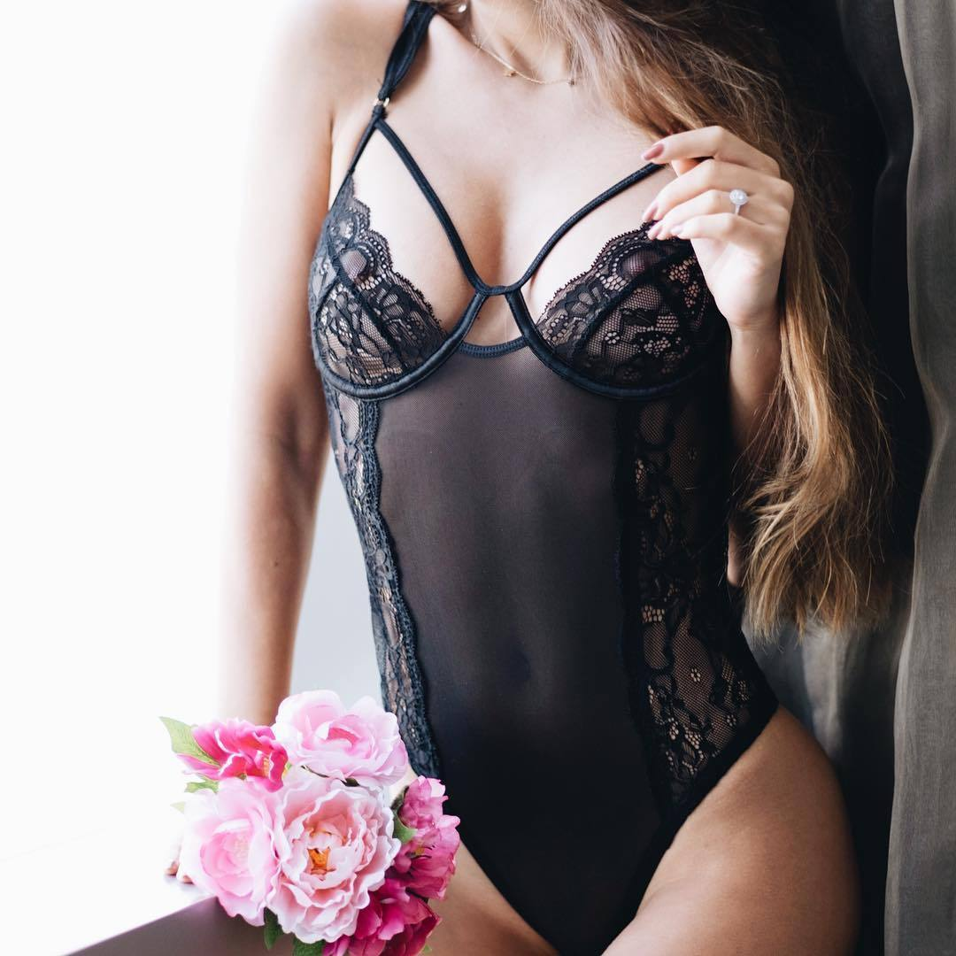 Women Sissy/<font><b>Sexy</b></font> Lingerie Bodysuits Lace Hollow Out Babydoll G String Thong Nightwear Underwear S-<font><b>XXL</b></font> image