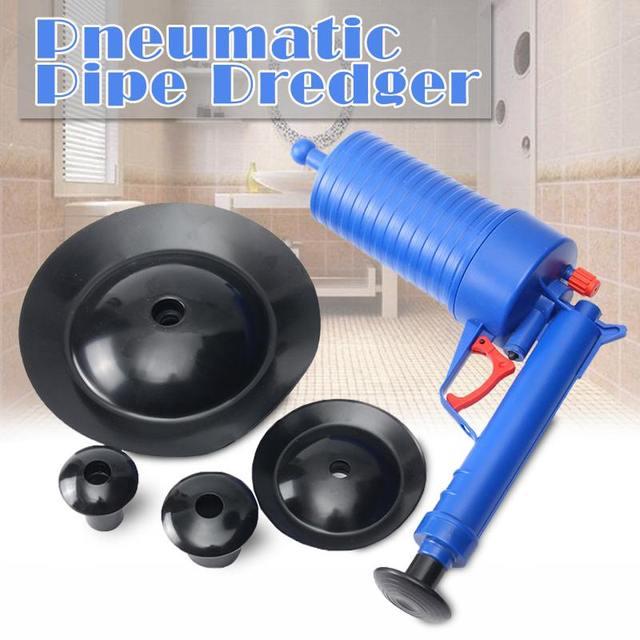 Домашний прочный воздушный сливной бластеры пистолеты высокого давления ручной Плунжер для раковины открывалка дозатор с насосом для очищения для туалета ванной кухни