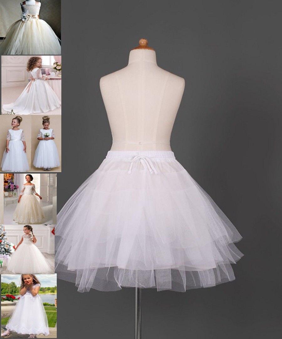Kids Petticoat Crinoline Skirt Slip Short Tutu Children 's Underskirt Pettiskirt Adjustable For Child 2-13 Years Old