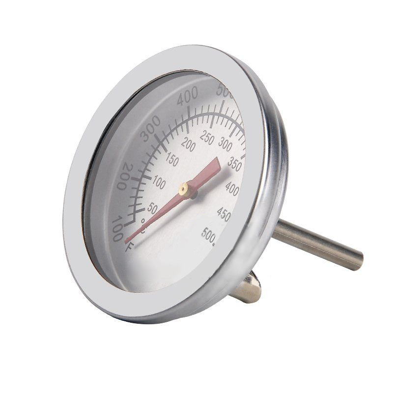 Stainless Steel Barbecue BBQ Smoker Grill Thermometer Temperature Gauge 50-500