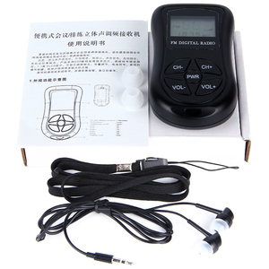 Image 5 - LEORY Mini altavoz de Radio Digital LCD, FM, 3,5mm, conector para auriculares, portátil, receptor de Radio con pantalla DSP