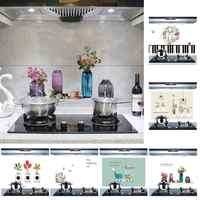 Kitchen Anti Oil Waterproof Heat Resistant Self Adhesive Tile Wall Sticker Decor