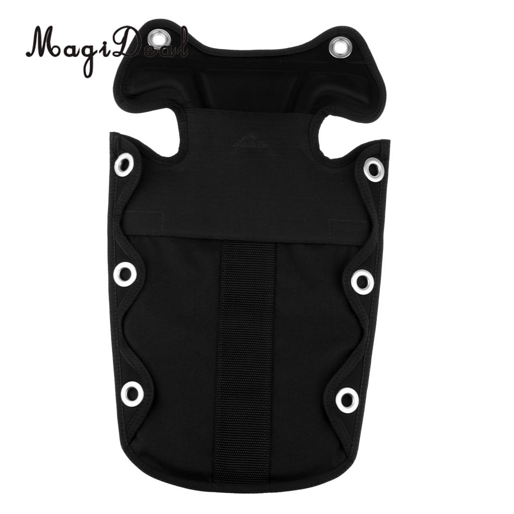 Soft Scuba Diving Back Support Backplate Pad With Storage Pocket For Harness